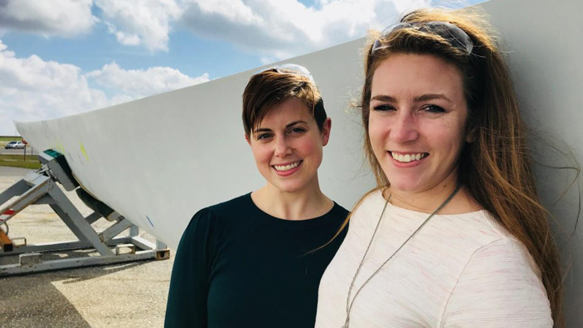 These women are helping build the wind turbine blades of the future.
